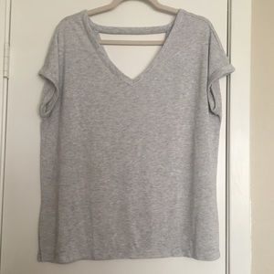 LOFT double v-neck relaxed tee size L